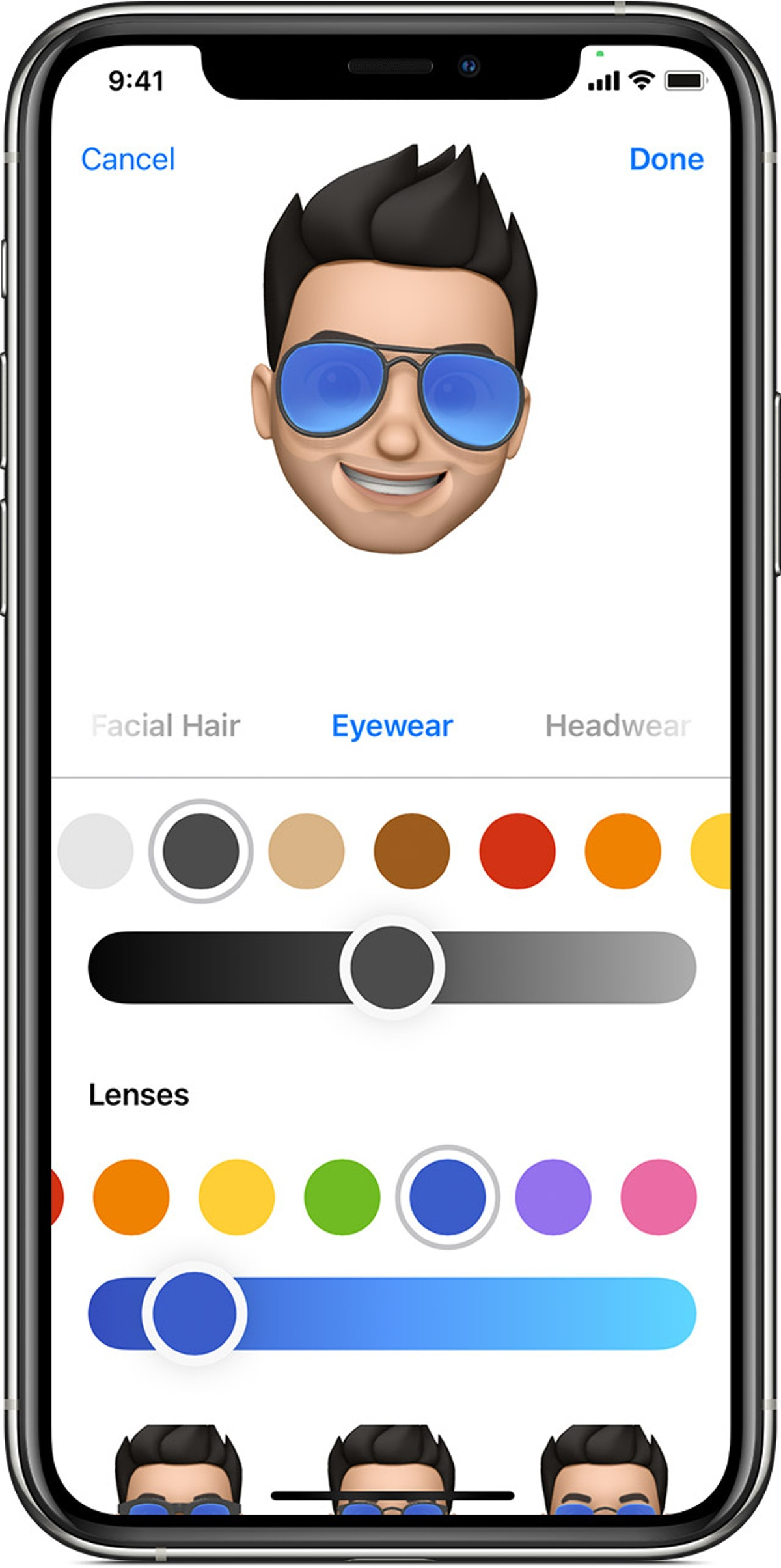 You can create a Memoji by looking at a photo for reference.