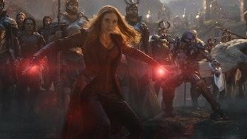 Wanda wrecking shop in Avengers: Endgame