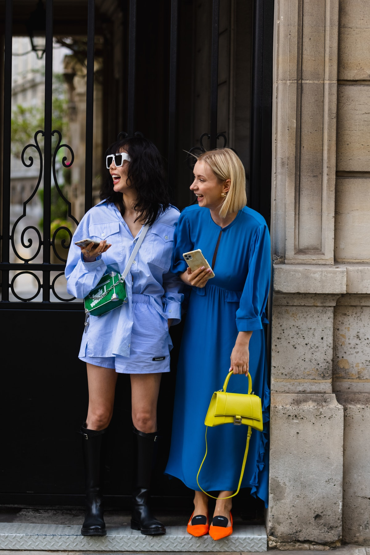 Street style photo from Fall 2021 Haute Couture week, photographed by Darrel Hunter for TZR.