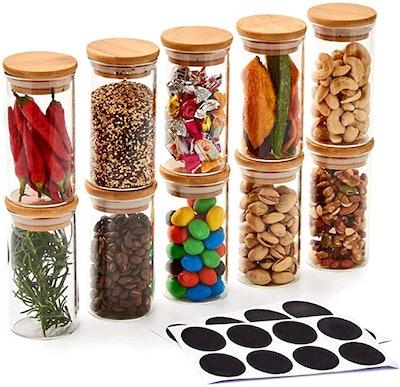 EZOWare Glass Jars (10-Pack)