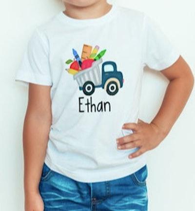 Personalized dump truck t-shirt