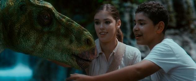 Dinosaur Island incorporates fantasy and time travel.