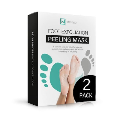 Lavinso Exfoliating Foot Mask (2 Pack)