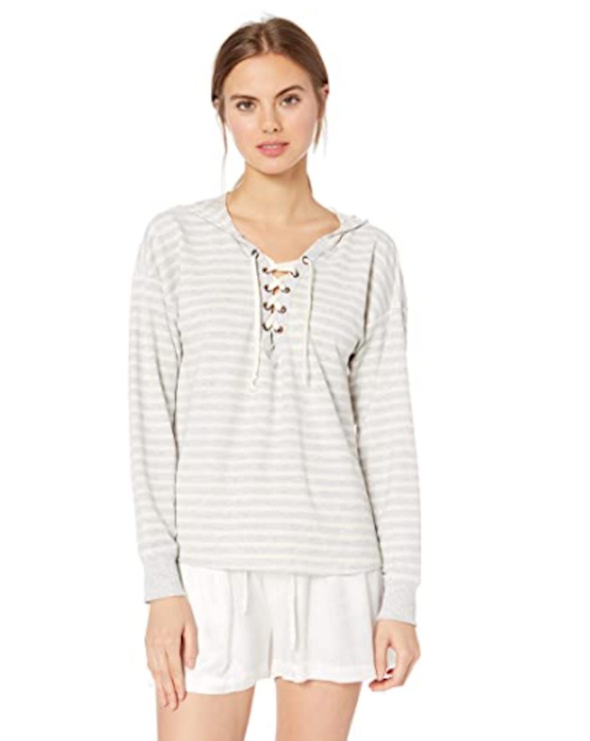 Mae Lace Up Sweatshirt