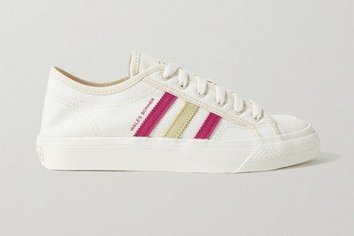 Adidas Originals X Wales Bonner Leather-trimmed Canvas Sneakers