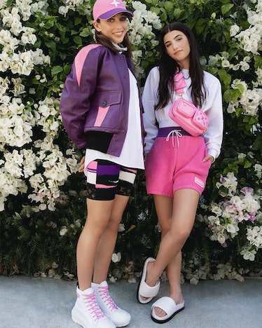 Emma Chamberlain and Charli D'Amelio in a Louis Vuitton campaign