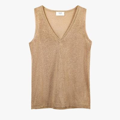 Leota Metallic Knit Vest