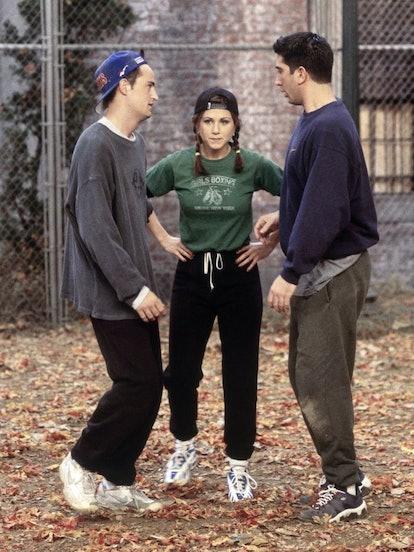 Jennifer Anniston as Rachel Green in Series one of Friends
