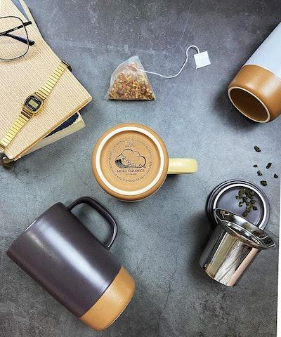 Mora Ceramics Tea Mug With Loose Leaf Infuser