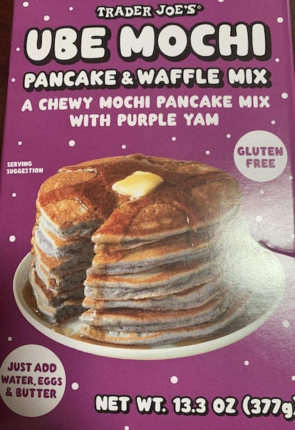Trader Joe's Ube Mochi Pancake Mix is an easy way to upgrade your breakfast.