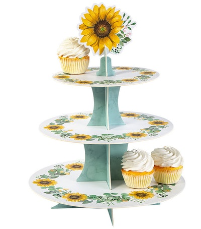 Sunflower Baby Shower Cupcake Stand