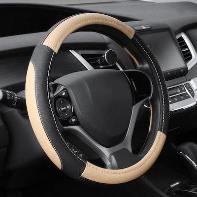 SEG Microfiber Leather Steering Wheel Cover