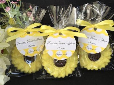 Sunflower Soap Favors Set of 10