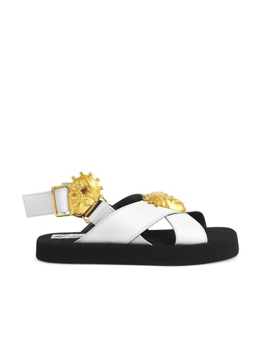 White Fah Plus made-to-order sandals from Loza Maleombho, available on Industrie Africa.