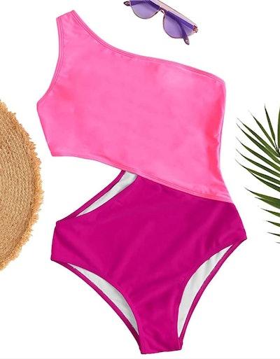 SweatyRocks Shoulder Cutout Swimsuit