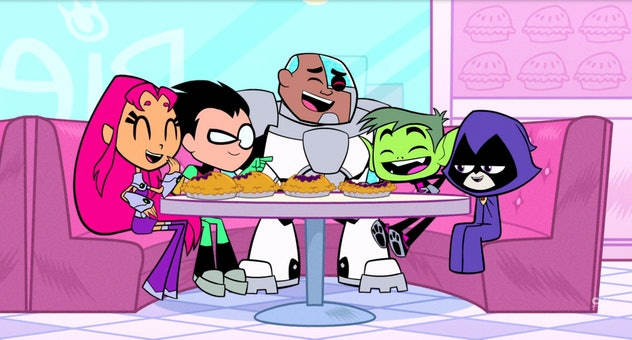 Teen Titans Go is based on characters from the DC Comics universe.