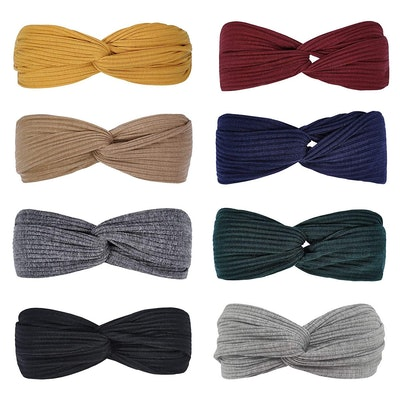 Huachi Knotted Headbands (8 Pack)
