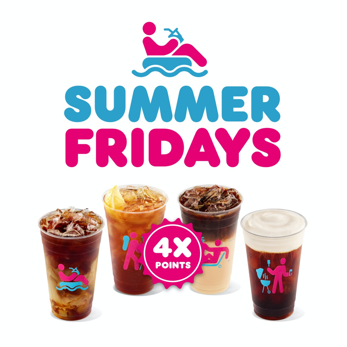 Dunkin's Summer Fridays 2021 deal will score you four times the points on iced sips.