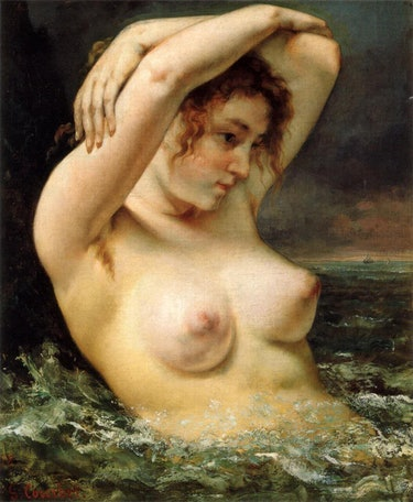 Gustave Courbet's painting The Woman in the Waves (1868)