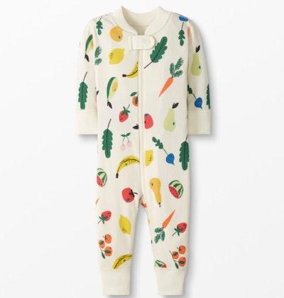 Fruits & Veggies Baby Zip Sleeper