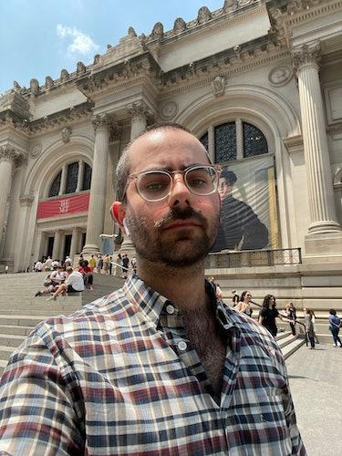Author Matt Wille outside The Metropolitan Museum of Art in New York
