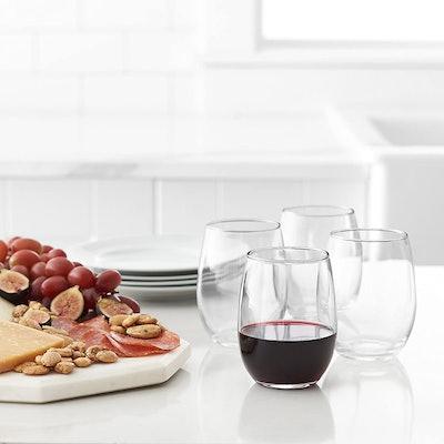 Amazon Basics Stemless Wine Glasses (Set of 4)