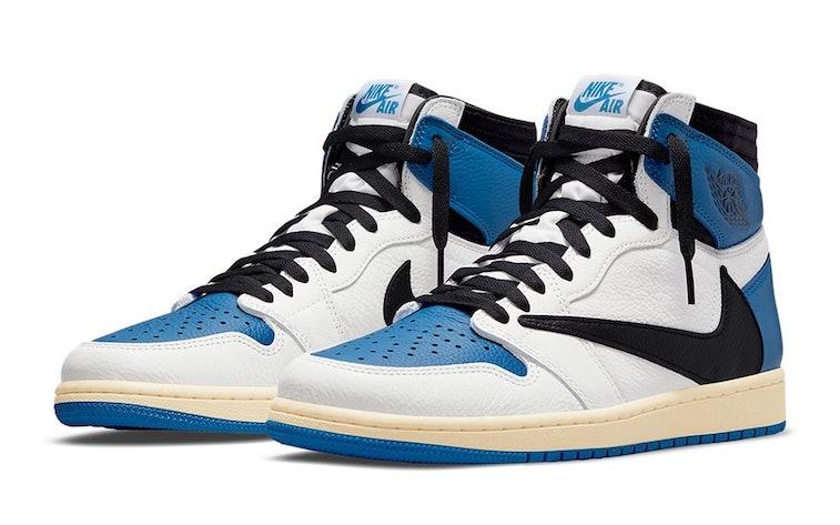 "Nike x Fragment Design x Travis Scott ""Military Blue"" Air Jordan 1"