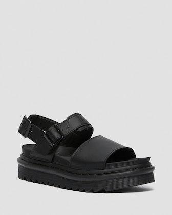 Voss leather strap platform sandals from Dr. Martens.