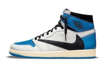 "Nike x Fragment Design x Travis Scott ""Bleu Militaire"" Air Jordan 1"