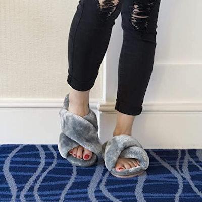 Crazy Lady Fuzzy Slippers