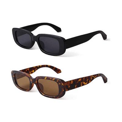 BUTABY Retro Sunglasses (2 Pack)