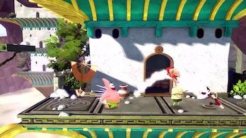 Nickelodeon's All-Star Brawl avatar character aang glider