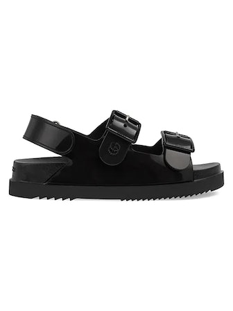 Chunky GG Rubber Sandals from Gucci, available on Saks Fifth Avenue.