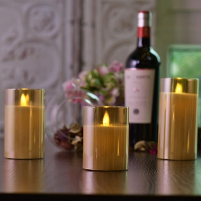 LANUOS Flameless Candles (Set of 3)