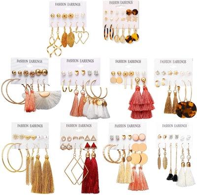 Colorful Earrings (63 Pairs)