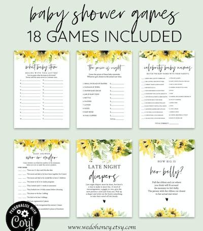 Sunflower Diaper Raffle Tickets