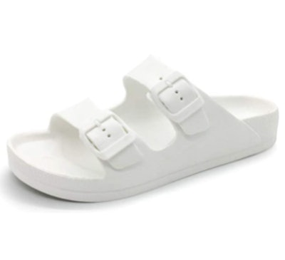 LUFFYMOMO Double Buckle Sandals