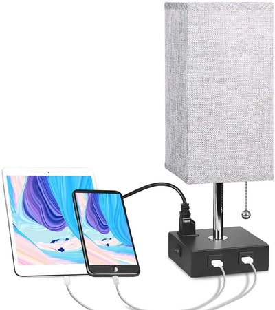 Aooshine Table Lamp with Outlet