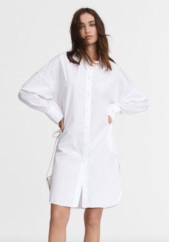 Rag & Bone's classic white button-down shirt dress.