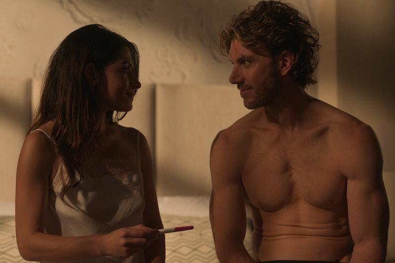 Sarah Shahi and Adam Demos acting in Netflix's 'Sex/Life'