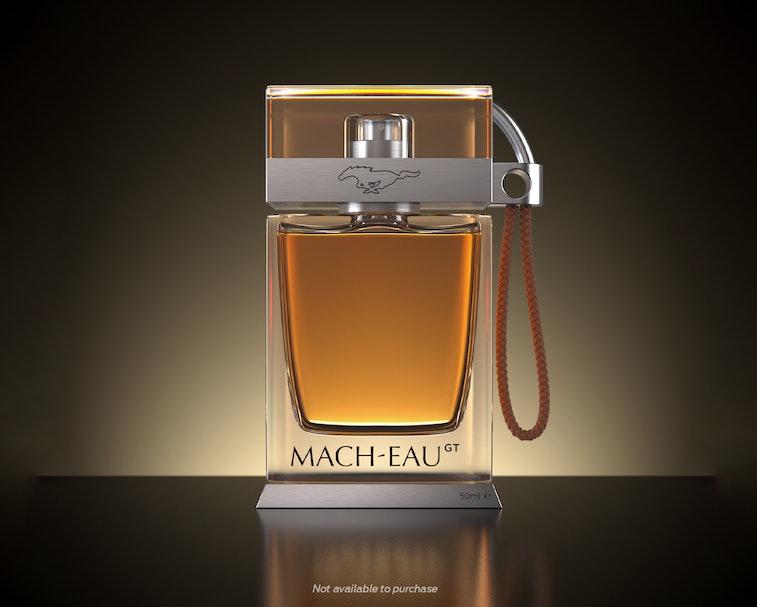 Olfiction Ford Mach-Eau perfume bottle promo image