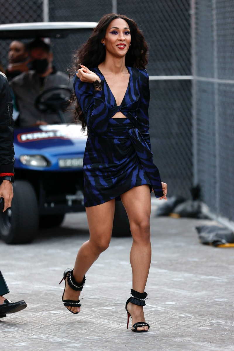 Mj Rodriguez attends the OUTLOUD: Raising Voices Concert Series at Los Angeles Memorial Coliseum on June 06, 2021 in Los Angeles, California.