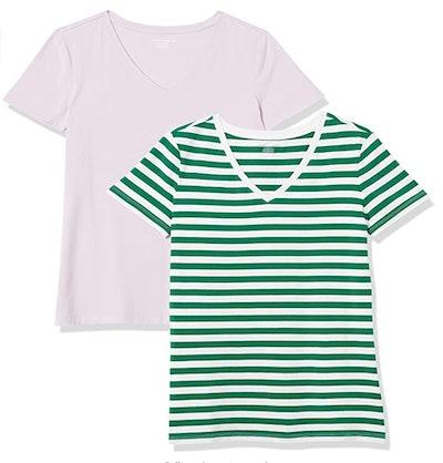 Amazon Essentials V-Neck T-Shirts (2-Pack)