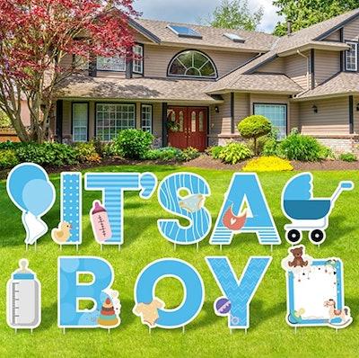 it's a boy lawn sign