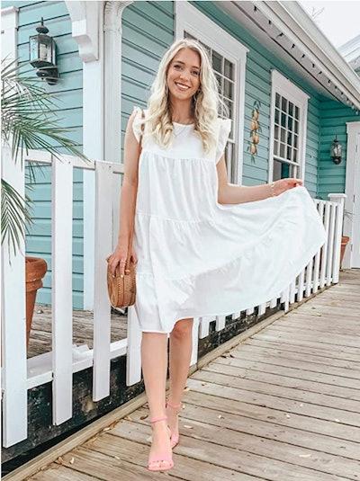 KIRUNDO Sleeveless Ruffle Dress