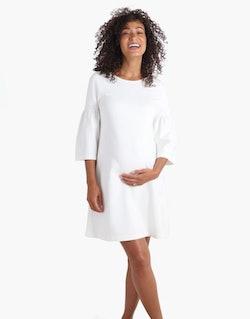 white maternity dress