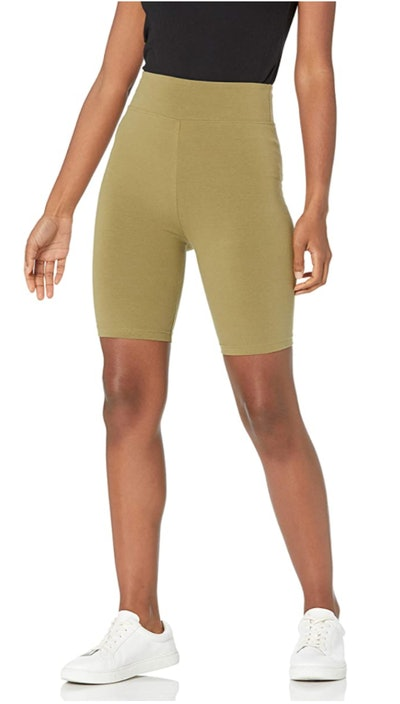 The Drop Jeannie High Rise Mid Length Biker Shorts