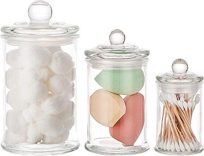KMWARES Apothecary Jars (3-Piece)