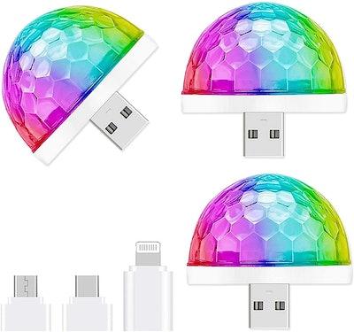 Aolun USB Mini Disco Light (3 Pack)