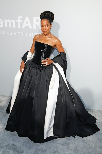 Regina King attends the amfAR Cannes Gala 2021 at Villa Eilenroc in Cap d'Antibes, France.